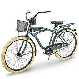 Huffy Cruiser Bike Mens, Holbrook 26 inch, Charcoal & Green