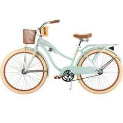 """Huffy #54576 Women's Nel Lusso Cruiser 24"""" Bike, Mint, Wire"""