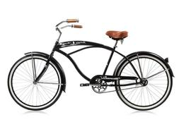 "Micargi Huntington 26"" Over Size Black Beach Cruiser Single"