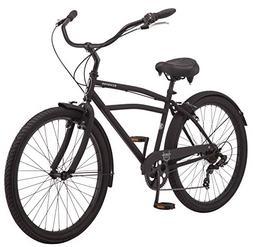 "Schwinn Huron Men's Cruiser Bike, 7-Speed, 26"" Wheels, Black"