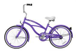"Micargi JETTA-F-PURPLE Women's 20"" Beach Cruiser Bicycle Bik"