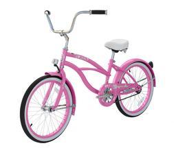 "Micargi JETTA-F Girls 20"" Beach Cruiser Bicycle Kids Bike Gi"