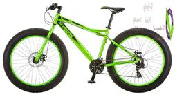"Mongoose Juneau 26"" Fat Tire Bicycle Green, Medium Frame Siz"