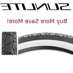 Kenda Whitewall Tire 26 x 2.125, White Sidewalls, Black Trea
