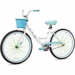 Kent 26 Womens, La Jolla Cruiser Bike, White, For Height Siz