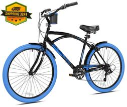 "Kent Cruiser Bike Men 26"" Black Comfort Beach City Commute"