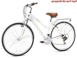 Kent Northwoods Springdale Women's Hybrid Bicycle, White