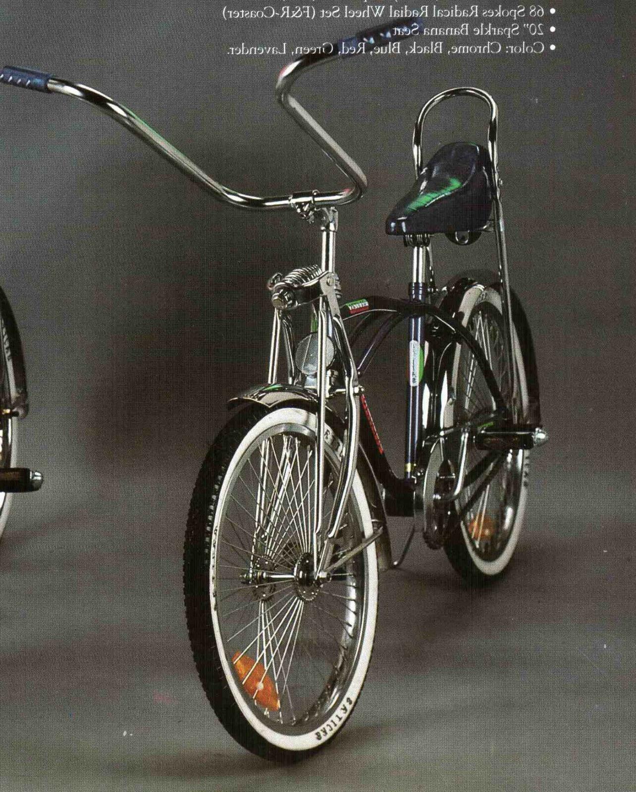 20 lowrider complete w 68 spoke bike