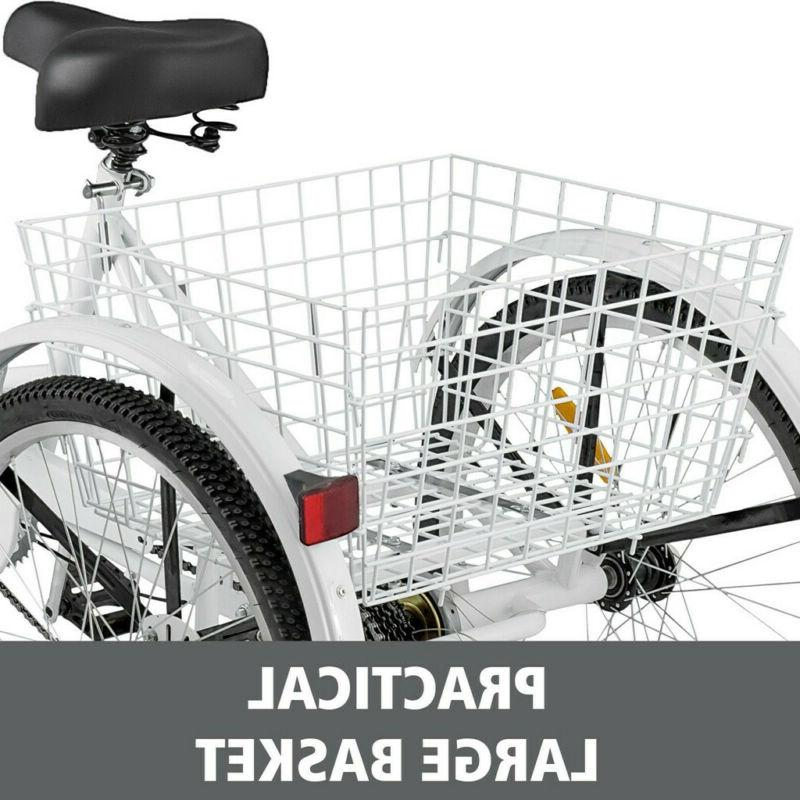 "24""/20"" Adult Trike Cruiser for Shopping"