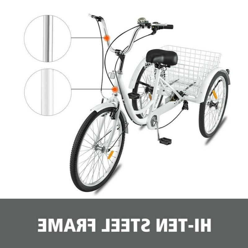 """24""""/20"""" Tricycle 3-Wheel Trike Bicycle for"""