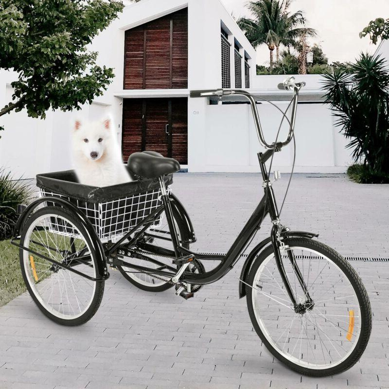 """24""""/20"""" Adult Tricycle 3-Wheel Trike Cruiser for"""