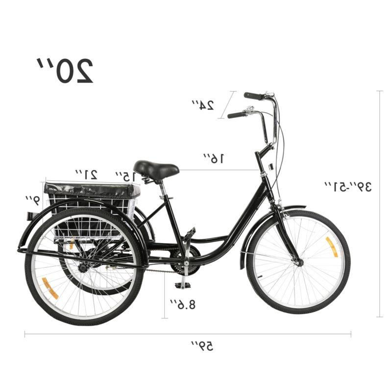 """24""""/20"""" Tricycle Trike Bicycle w/Basket for"""