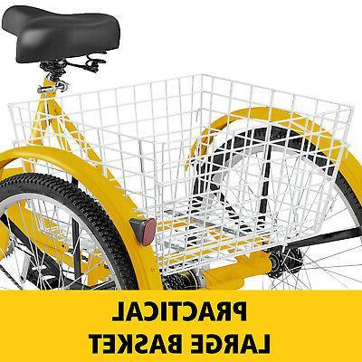 Adult Tricycle 3-Wheel 1 Trike w/ Basket