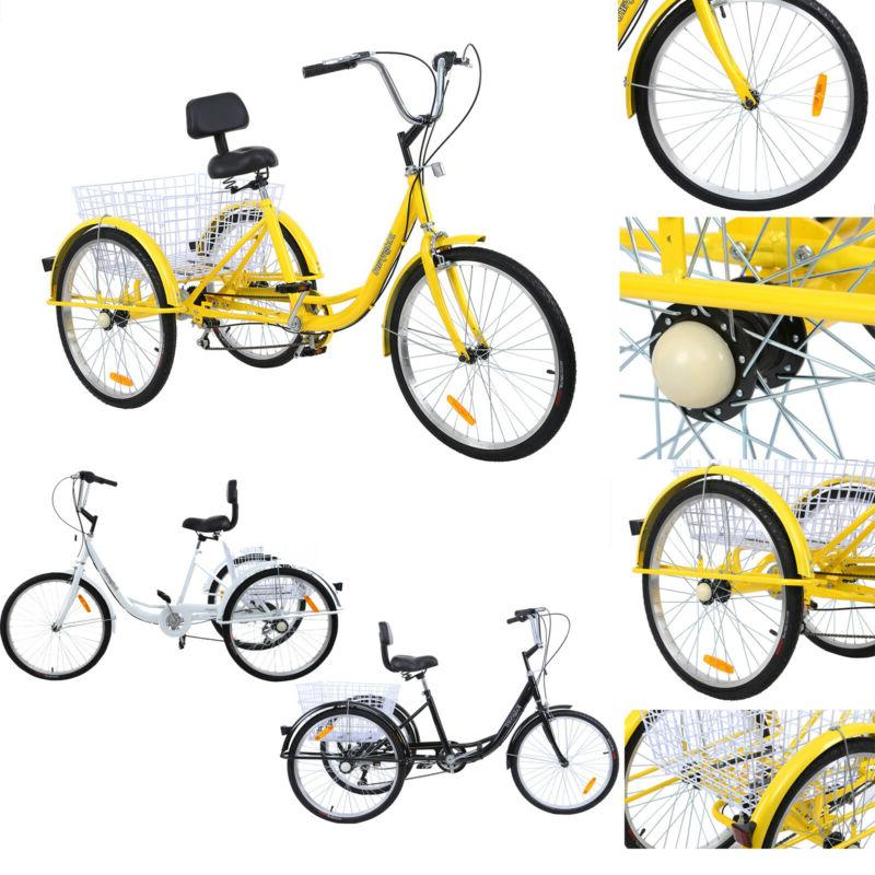 """24"""" Adult Tricycle Shimano 7 Trike Cruiser"""
