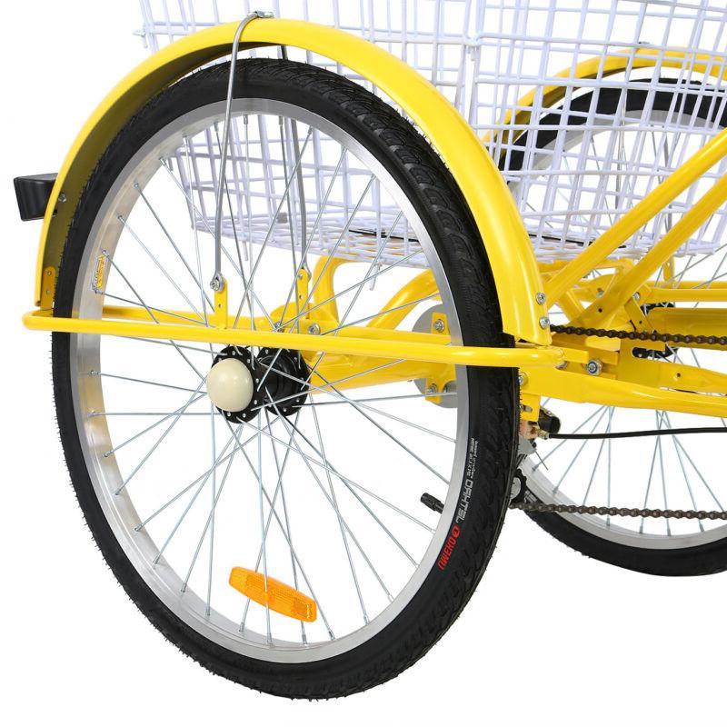 """24"""" Shimano 7 Speed Bicycle Trike Bike Cruiser"""