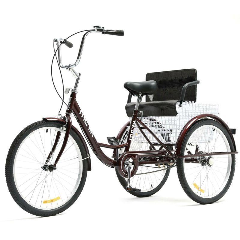 "24"" Tricycle Wheel Trike Bike with Seat"