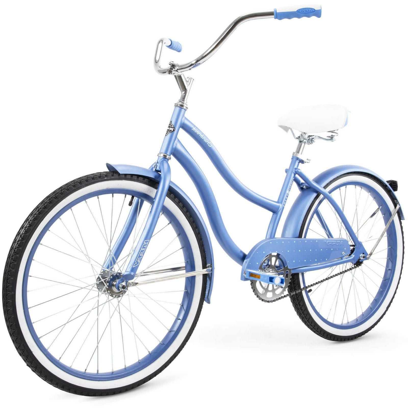 "Huffy 24"" Cranbrook Womens Girls Comfort Cruiser Bike Bicycl"