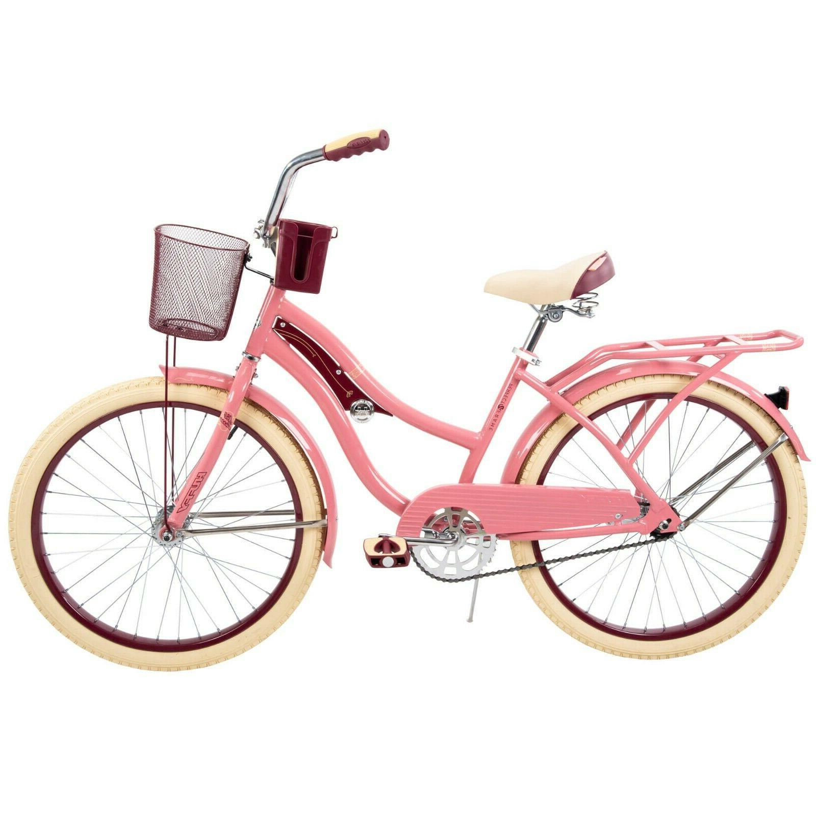 Huffy 54578 Nel Lusso 24 inch Cruiser Bike -Pink Blush Powde