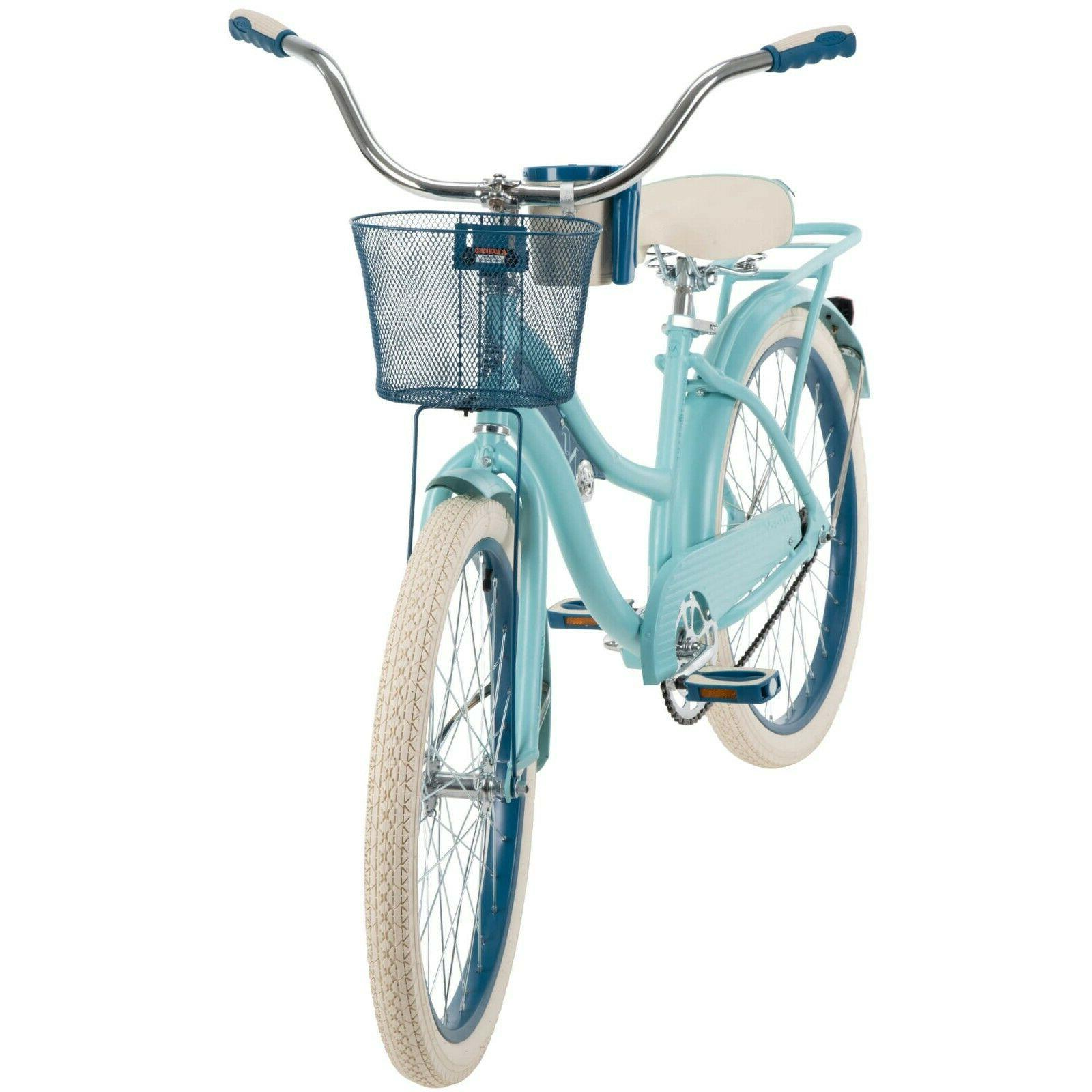 "Huffy 24"" Nel Girls' Cruiser Bike Blue"