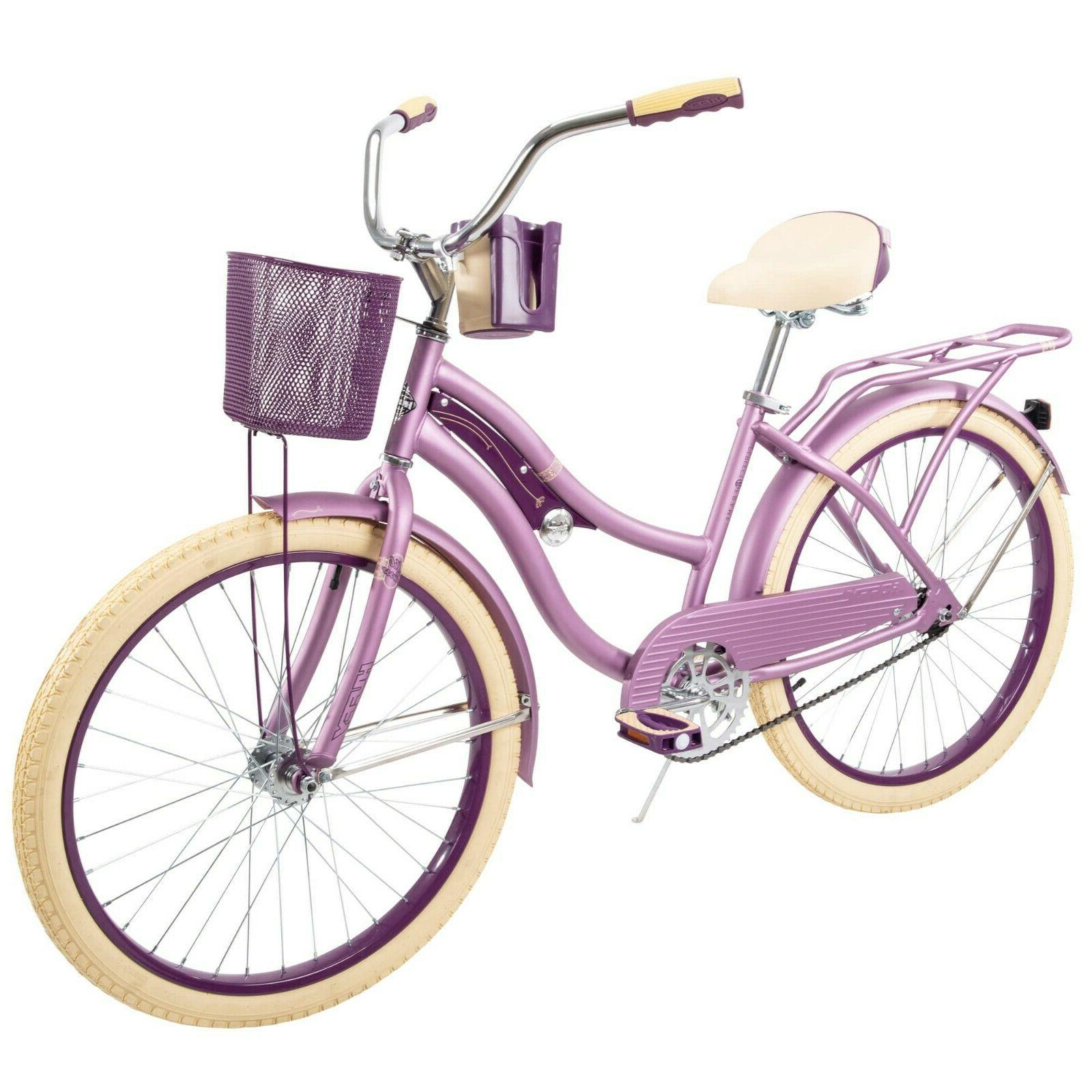 NEW Huffy Nel Lusso 24 inch Girls' Cruiser Bike Purple satin