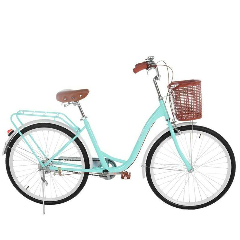 """Cruiser Commuter Bike 26"""" Women's Comfort Green Beach Hy"""