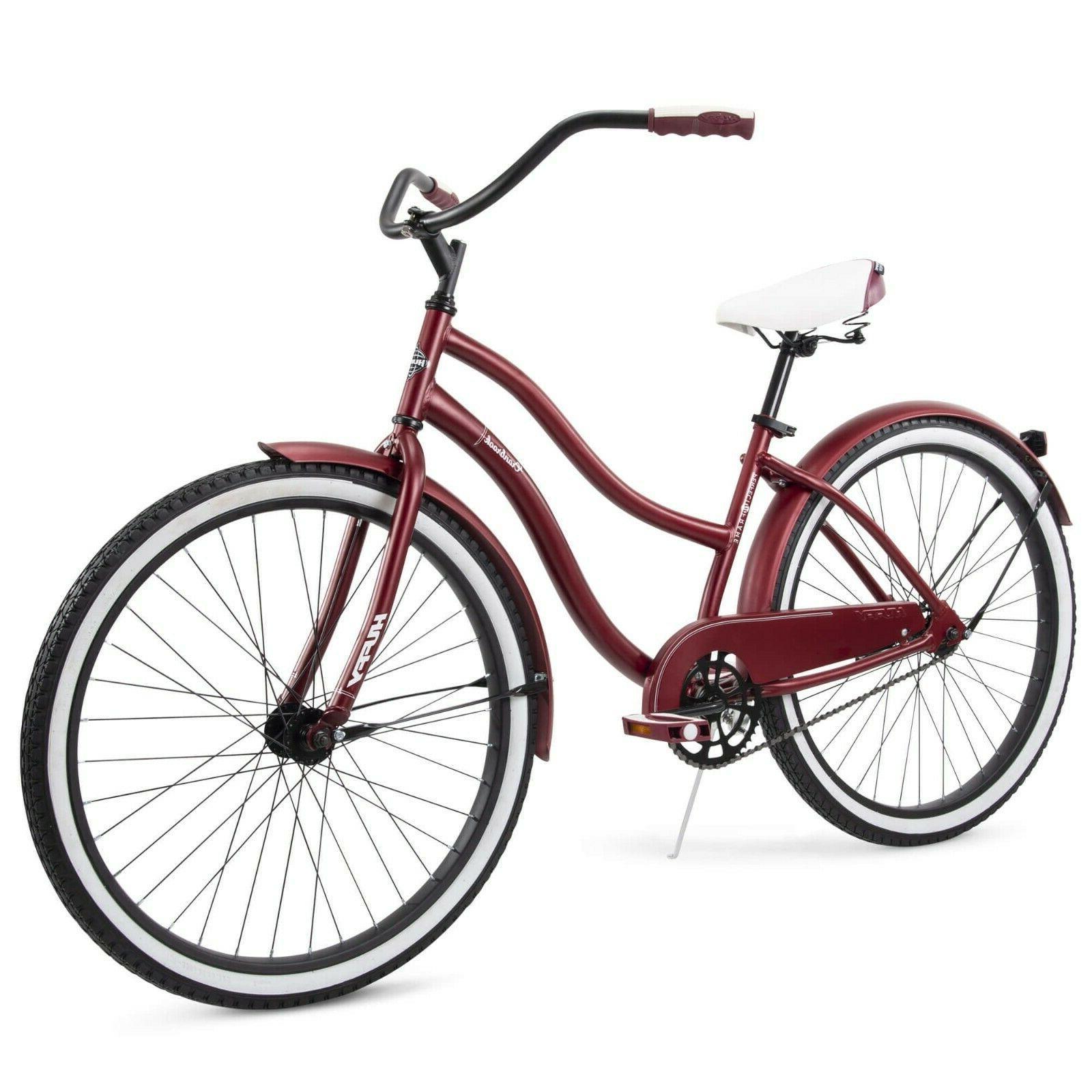 """NEW Huffy Cranbrook 26"""" Women's Cruiser Bike Dark Red FREE S"""
