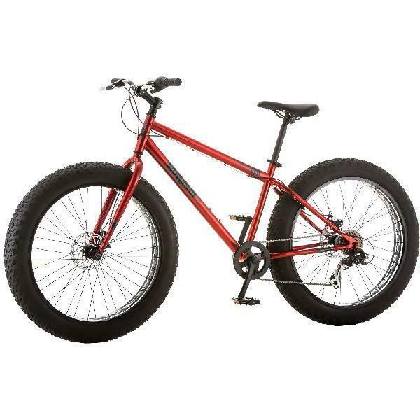 "26"" Men All-Terrain Red Durable Steel Frame Bicycle"