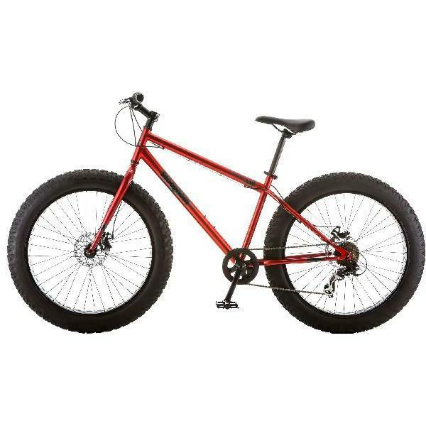 """26"""" All-Terrain Fat Tire Red Bicycle"""