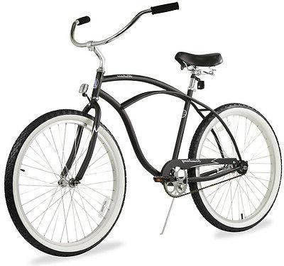 "26"" Men Beach Cruiser Bicycle Bike Firmstrong Urban Matte Bl"