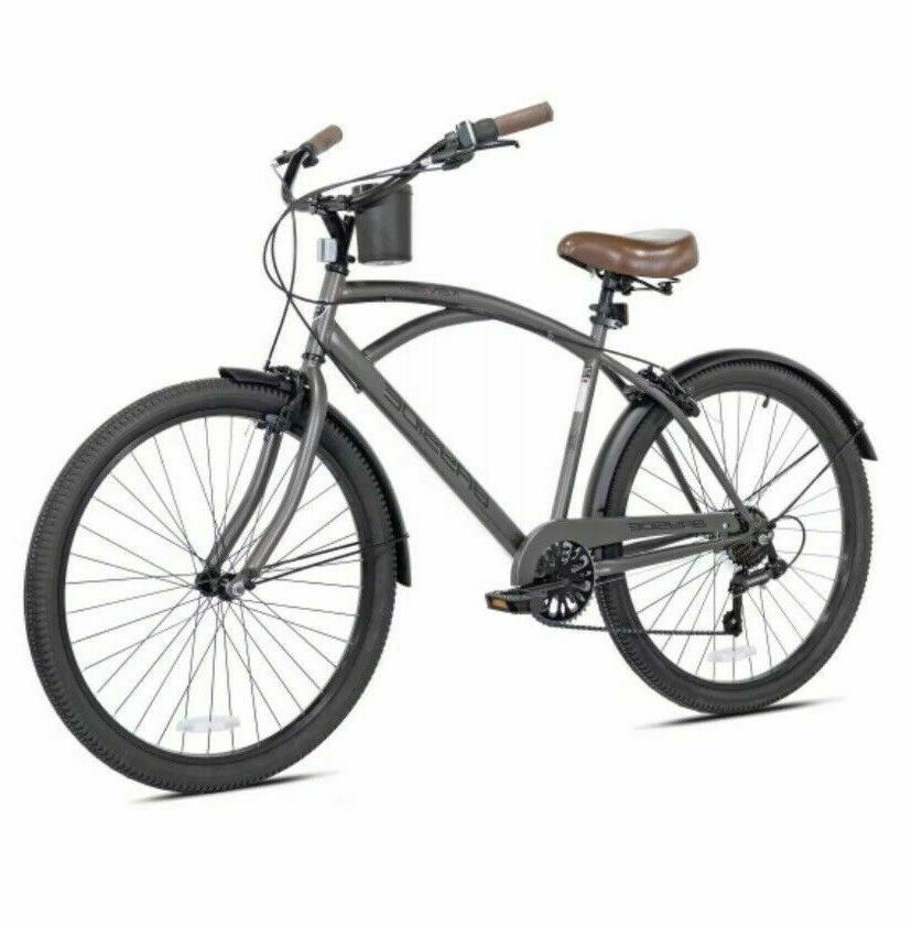 "Kent 26"" Mens Bayside Beach Cruiser Bike *Satin Cocoa Brown*"