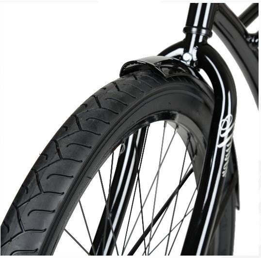 26 Beach Cruiser Bike Seat Outdoor Cycling Black