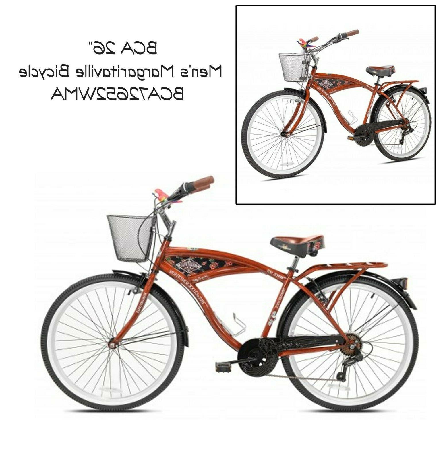 26 mens multi speed cruiser bike basket