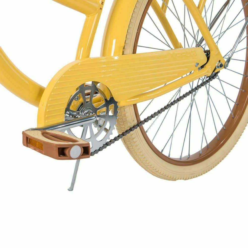 "Huffy 26"" Lusso Women Bike with Perfect Frame,Yellow free"