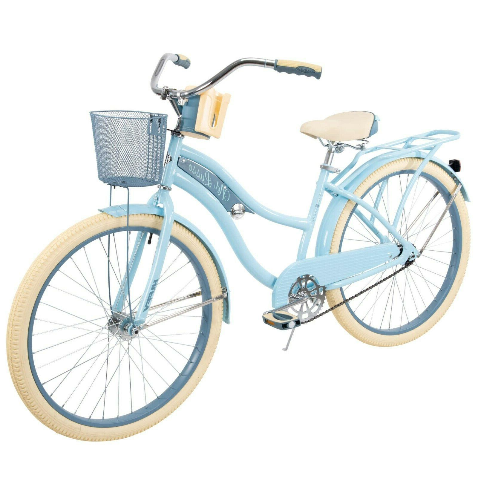 "Huffy 26"" Women's Classic Cruiser w/ Perfect Frame Light Blue"