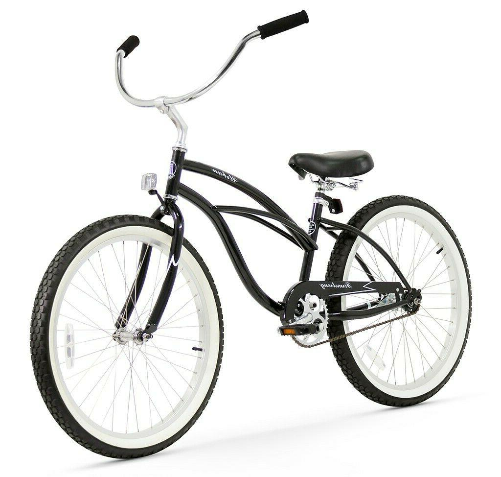26 urban lady beach cruiser bike black
