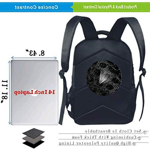 "3D Black Double-Deck Rucksack,Bicycle,I My Bike Concept Birds The Seat Cruisers Vehicle Kids,Personalized 11.8""x 6.3"""