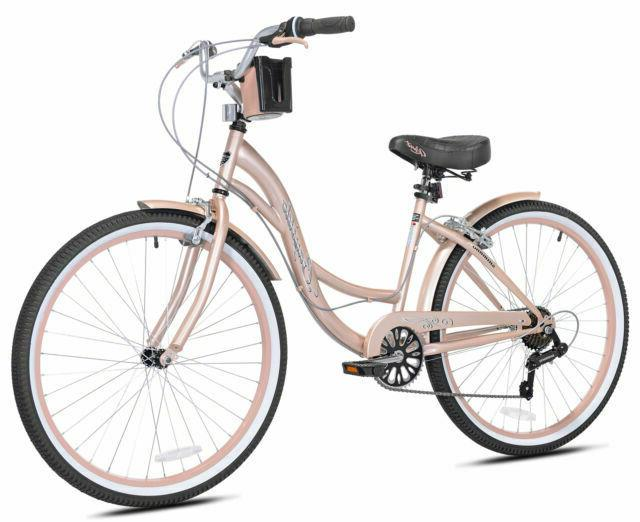 72653 26 inch bayside cruiser bike rose