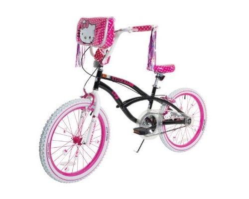Hello 8108-60TJ Girls Bike, Black/Pink/White