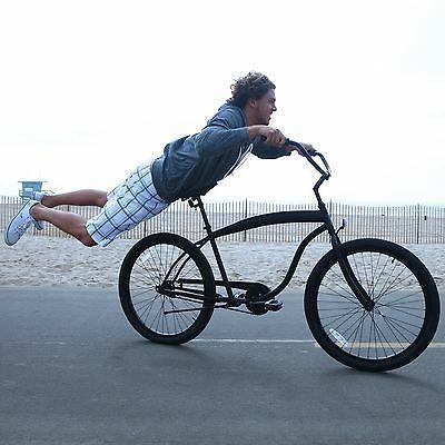 NEW - sixthreezero In The 26-Inch Beach Cruiser Bicycle Matte Black