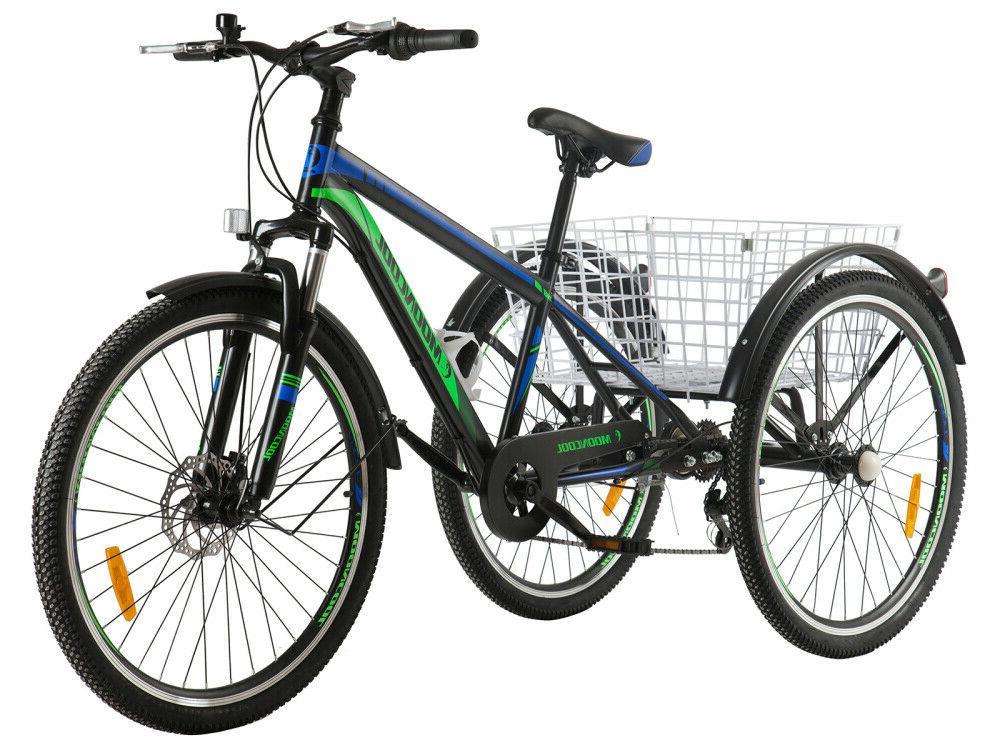 7 Wheel Bike Trike Basket