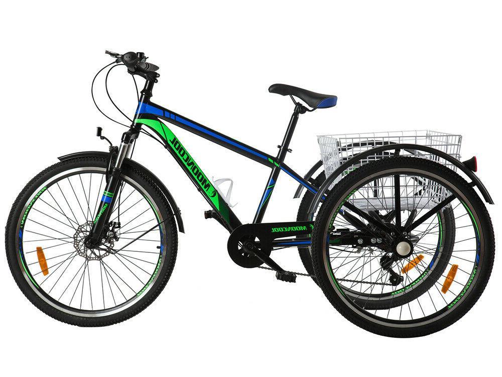 Adult 7 Speed 3 Bike w/Cargo Basket
