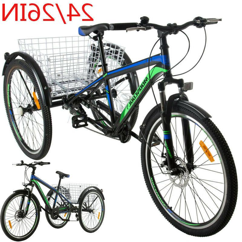 adult 24 26 mountain tricycle 7 speed