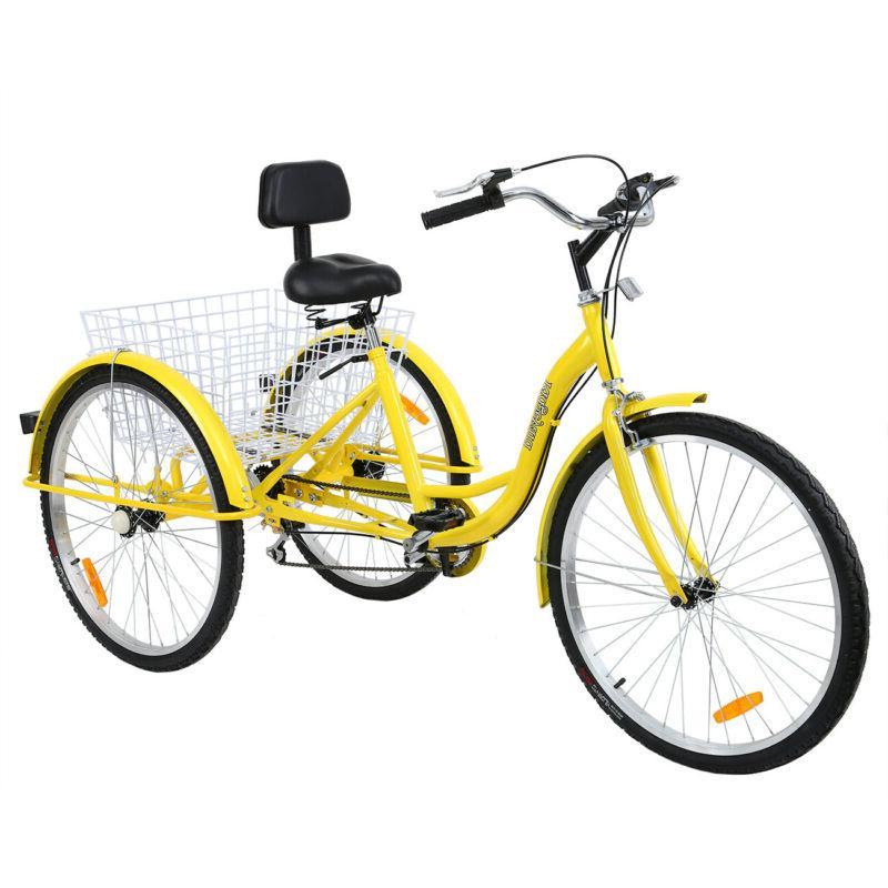 Ridgeyard Adult Tricycle 7-Speed Step Trike Bicycle Bike
