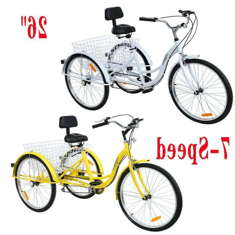 adult 26 3 wheel tricycle 7 speed