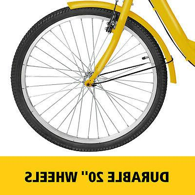 "Adult 20"" 1 Speed Yellow Trike Cruiser w/ Basket"