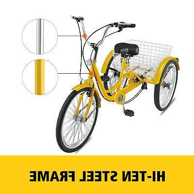 """Adult Tricycle 20"""" 1 Bicycle Trike Basket"""