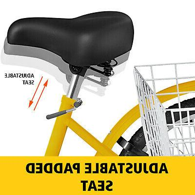 Adult Tricycle 1 Speed Yellow Trike Lock