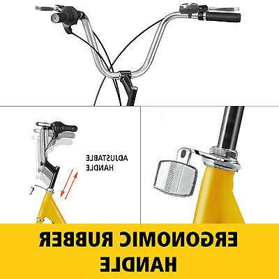 "Adult Tricycle 20"" 1 Yellow Trike Cruiser Lock Basket"