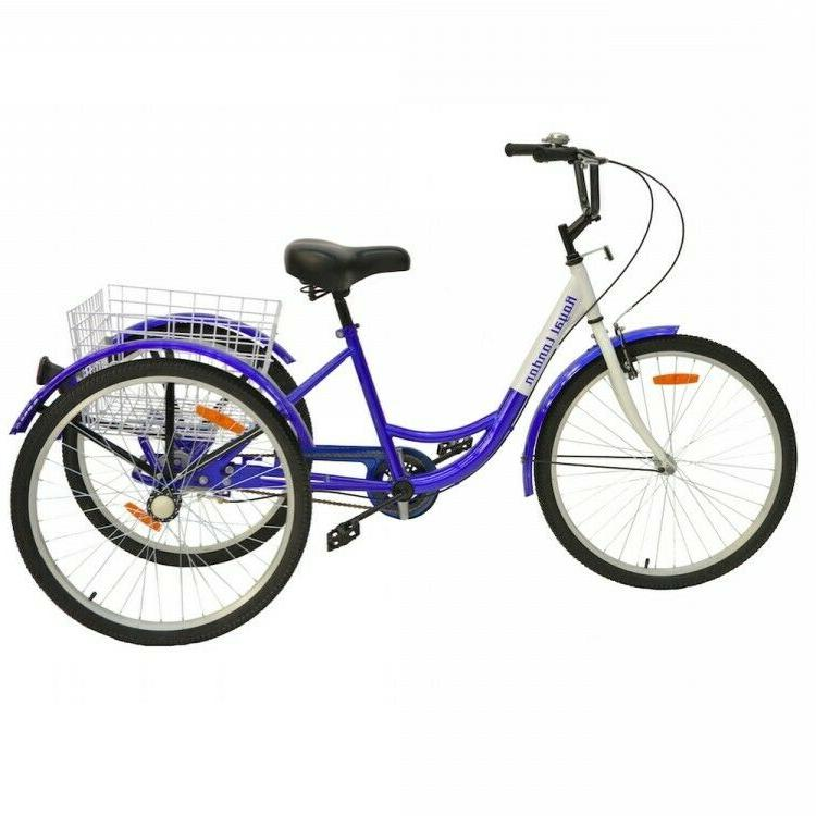 Adult Tricycle 3 Wheeled Bicycle Shopping Basket Hand Brakes