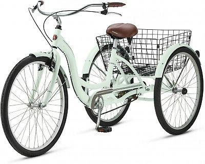 adult tricycle bicycle 3 tire seat basket